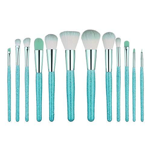 EUZeo 12pcs Make Up Pinsel Set 12 Stück Premium Kosmetik Professionelles Mattrosegoldenes...