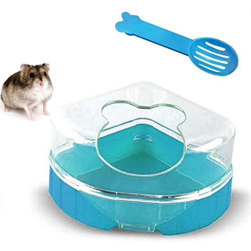SayHia Hamster-Bad-Behälter-Toiletten-Sandkasten, Hamster-Badezimmer, Gerbil-Plastiksand-trockener Bad-Behälter-Toiletten-Sandkasten mit Schaufel für Hamster-Gerbil-Ratten-Mäuse und kleines Tier