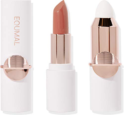 [EQUMAL] NON-SECTION TIPSTICK Bare See-Through #205, Lamuqe Lipstick blender set, Sheer glossy Lipstick, High-pigmentation, Soft Long lasting durable lip (Replaceable Lip blender included)