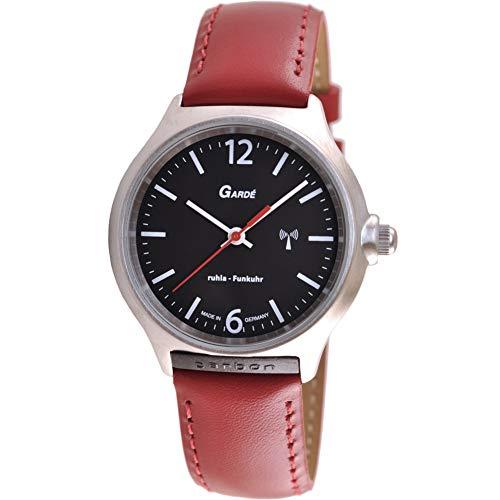 Gardé (by Ruhla) Uhr Damen Funkuhr Modell FU 128-74 rot