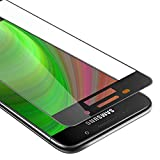 Cadorabo Vollbild Panzerglasfolie für Samsung Galaxy A3 2016 - Schutzfolie in TRANSPARENT mit SCHWARZ - Gehärtet (Tempered) Bildschirmschutz Glas in 9H Festigkeit mit 3D Touch Kompatibilität