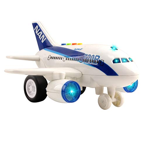 Vokodo Commercial Airplane Friction Powered Aviation Toy Push and Go...