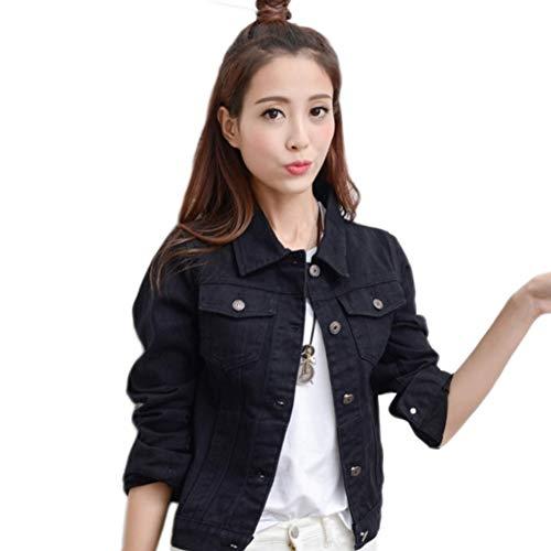 NZJK jeansjas lichtblauw bomber korte jeanjas nonchalant scheuren denim outwear 2XL slank lange mouwen zwart jeans jas jas jas