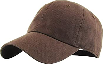 KB-LOW BRN Classic Cotton Dad Hat Adjustable Plain Cap Polo Style Low Profile  Unstructured   Classic  Brown Adjustable