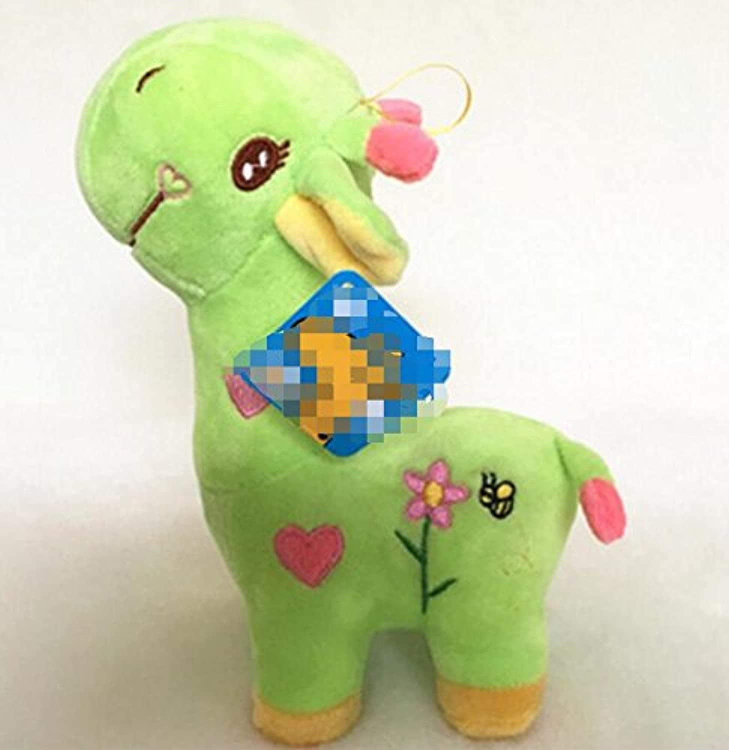 Baby Novelty Toy Cute 45cm Plush Soft Sika Deer Plush Toy Baby Playing Toy Home Decorations(Green)