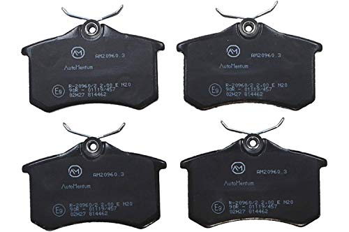 AutoMentum AM20960.3 Bremsbelagsatz 4-teilig für VOLKSWAGEN POLO (6R1 6C1 601 603) 2009- Hinterachse und andere Fahrzeuge