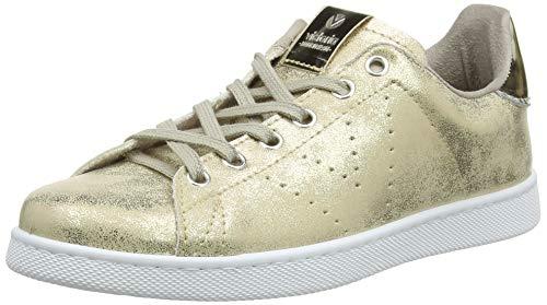 Victoria Tenis Metalizado, Zapatillas para Mujer, Dorado (Platino 594), 40 EU