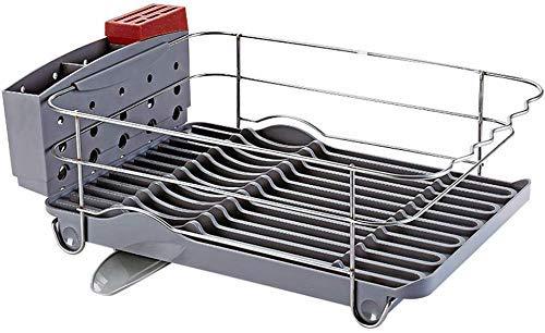 Rack de secado - 304 acero inoxidable acero chapado en platos pequeños platos platos conjuntos de drenaje con tablero de drenaje Conjunto de cubiertos para cocina