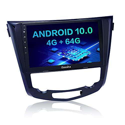 Dasaita Autoradio Bluetooth per Qashqai J11 X-Trail Rouge 2014 2015 2016 2017 2018 Carplay Android Auto Radio dab GPS WIFI AM FM Android 10.0 Stereo Auto 4G RAM+64G ROM 10.2' Touch Screen