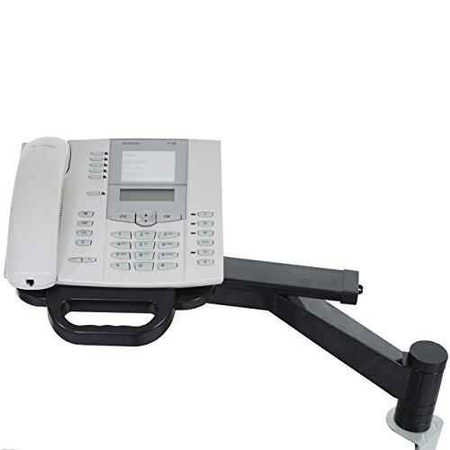 Mendler Telefonarm T555, Telefonhalter Telefonschwenkarm Tischhalterung, schwarz