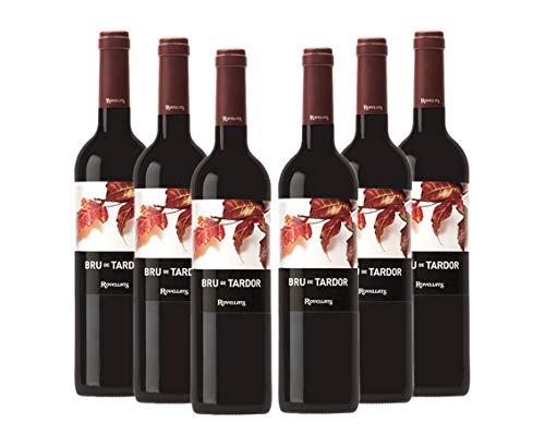Cava Rovellats - Vino Bru de tardor - D.O. Penedés - Pack 6 botellas de vino tinto 750 ml – Merlot y Cabernet Sauvignon - Cosecha 2016