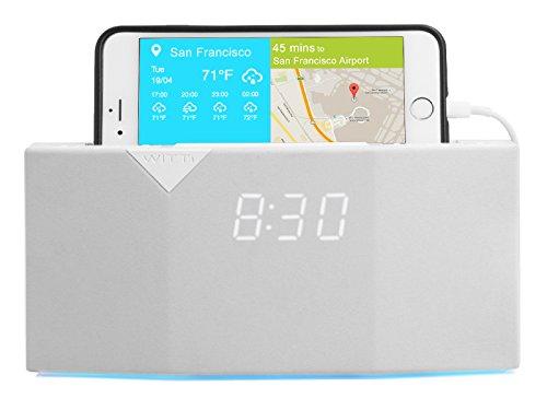 WITTI Design BEDDI - Eleganter Radiowecker mit integriertem Smart Home - Weiß