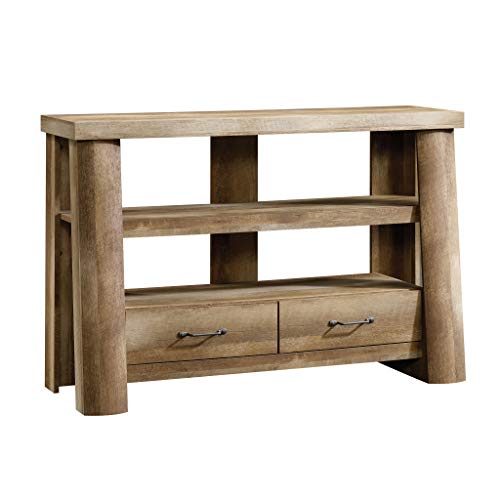 Sauder Boone Mountain Anywhere Console, For TV's up to 47', Craftsman Oak finish