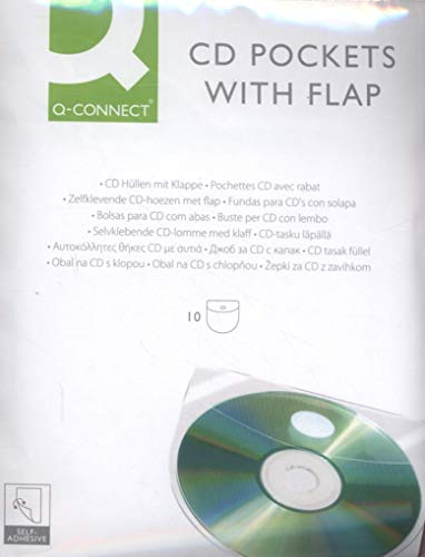 Q-Connect KF27032 Edv-Zubehöre CD-Hülle selbstklebend 10 stück