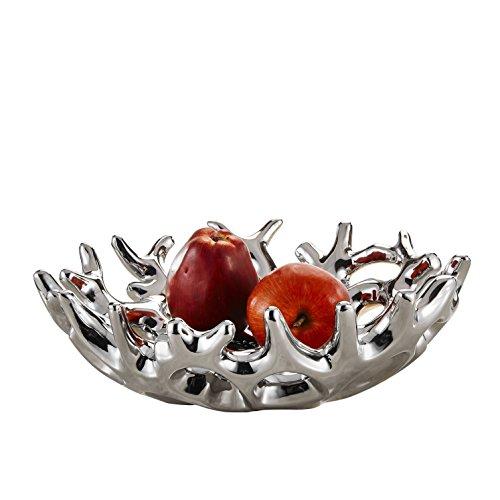 Purelifestyle Dekoschale aus Keramik, GYP034, Kreativ Obstteller Obstschale Deko Tischdeko Hochzeitsdeko Größe 34 * 13,5 * 34 cm