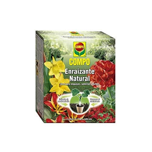 Compo Enraizante Natural, para esquejes, Semillas y bulbos, Apto para Agricultura ecológica, 5 Sobres de 10 g