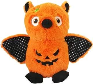 ALLYK Bat Stuffed Animal Halloween Orange, 8 Inches, Plush Owl, Pumpkin Gifts for Kids Boys Girls Babies Teenagers (Style 1)