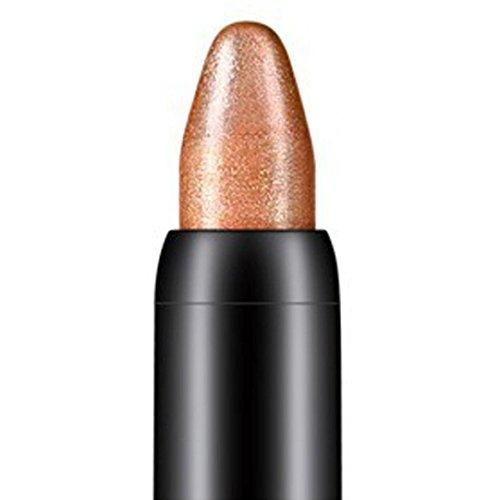 Tonsee Femmes Beauté Surligneur Crayon À Paupières Cosmétique Glitter Ombre À Paupières Eyeliner Stylo Outil De Maquillage Portable, 116cm (Marron#14)