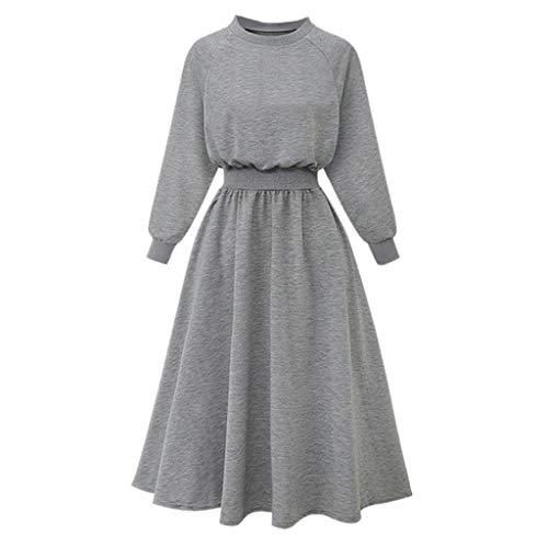 Cardith Damen Lange Langarm Abendkleid Maxi Party Kleid Damen Kleider Strandkleid Winterkleid Strickkleider für Damen Maxikleid Abendkleid Jerseykleider