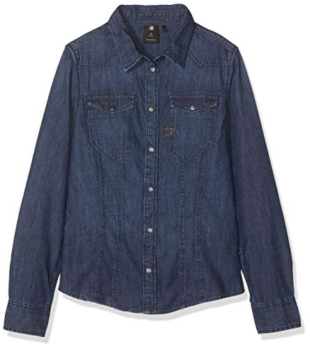 G-Star Sp12506 LS Shirt Blusa, Azul (Indigo 46), 14 años (T