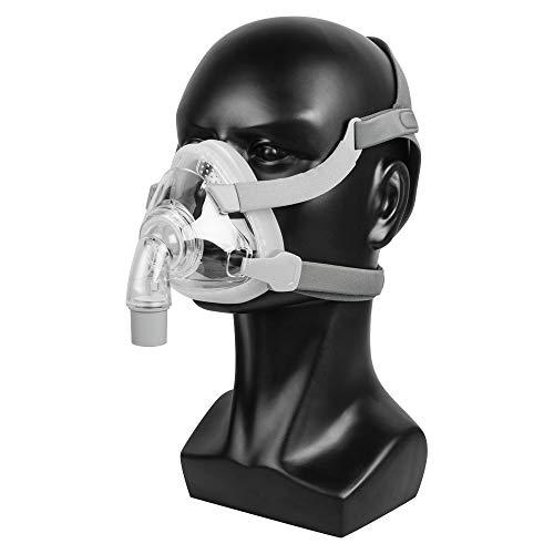 CPAP-Vollmaske für Schlafapnoe Anti-Schnarch-Behandlungslösung Stirn Rahmenfreies Design mit frei verstellbarer Kopfbedeckung (L)