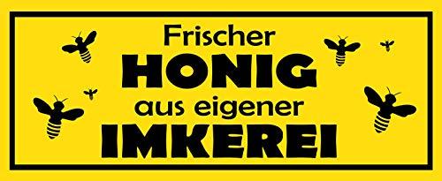 Deko7 blikken bord 27 x 10 cm Imker Spreuk: verse honing uit eigen Imkerei
