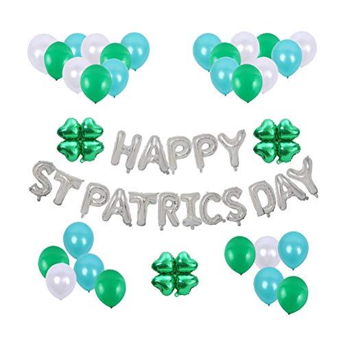 VALICLUD Chic 53 Stück Saint Patrick's Day Latex und Folie Luftballons Kit Runde Ballon Dekor Happy Stpatrick's Day Banner Foto Requisiten