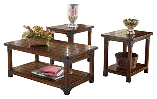 Signature Design by Ashley - Murphy 3-Piece Occasional Wooden Table Set, Medium Brown