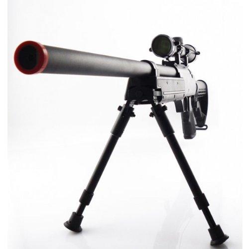 470 fps cyma aps sr-2 modular full metal bolt action sniper rifle w/ scope & bi-pod pkg - enhanced 2010 model(Airsoft Gun)