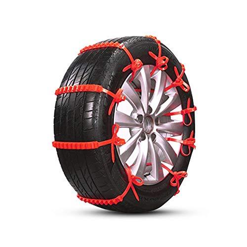 ZP-SNOW snökedjor halkfri vinterdäck kedja, bil snökedjor hjulkedjor för vagn lastbil SUV, säkerhet på vintern, 185–225 mm (enhet: 10 enheter)