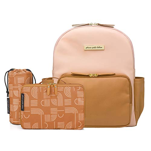 Petunia Pickle Bottom - District Backpack - Blush/Camel Leatherette