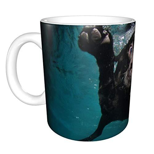 Tazza da caffè con simpatici cuccioli sottomarini, personalizzabile, idea regalo