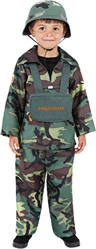 Smiffys kinderen soldaten kostuum voor jongens, bovendeel, broek en rugzak, maat: L, 38662 Large camouflage.
