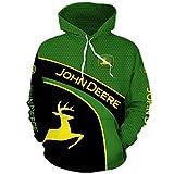 NIUFEITIANLE Hoodie Männer & Frauen für John-Deere 3D Full Printing Cardigan Thin Casual Polyester Sweatshirt Gf / C1 / S