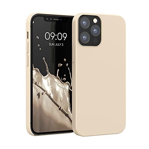 kwmobile Hülle kompatibel mit Apple iPhone 12/12 Pro - Hülle Silikon gummiert - Handyhülle - Handy Hülle in Perlmutt