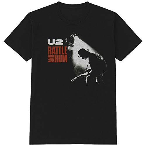 U2 Rattle and Hum The Edge Bono offiziell Männer T-Shirt Herren (X-Large)