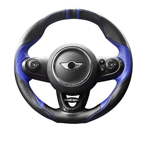 Cubierta de Volante Cubierta Volante del coche de cuero de la PU de la decoración del protector for Mini Cooper JCW S F54 F55 F56 F60 Countryman accesorios del coche mejor agarre ( Color : Blue )