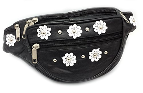 Dasiy Flower Power and Studs Leather Bum Bag