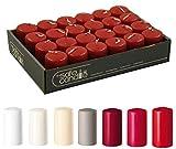Safe Candle - Velas de Adviento (24 unidades, 6 cm de altura, 4 cm de diámetro), color rojo carmín