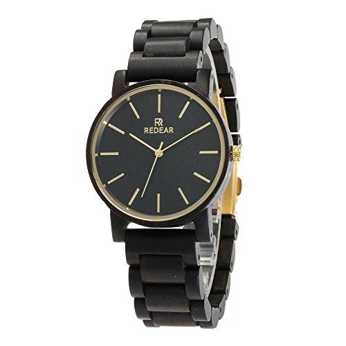 Herenhorloges van hout, dames klassieke kwarts analoge horloges, ebbenhout paar horloges, Moederdag, Valentijnsdag verjaardagscadeau, hete Amazon