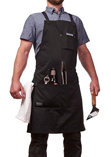 Hudson Durable Goods - Professional Grade Chef Apron - Black - 100% Cotton