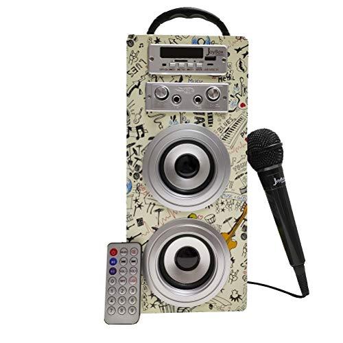 Biwond JoyBox Karaoke Altavoz 10W + Micrófono (Bluetooth TWS, Mando, Radio FM,...