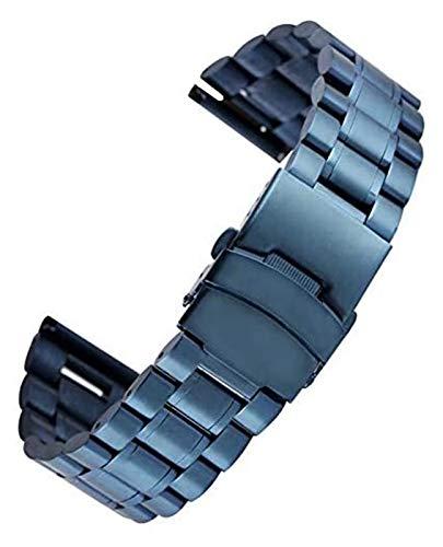 ZJSXIA Azul Estrellado 18/20/22 mm de Acero Inoxidable Reloj de Reloj Plegable Cierre de Acero Relojes de Relojes reemplazos Reloj de Pulsera Correa de Reloj de Reloj Correas de Reloj