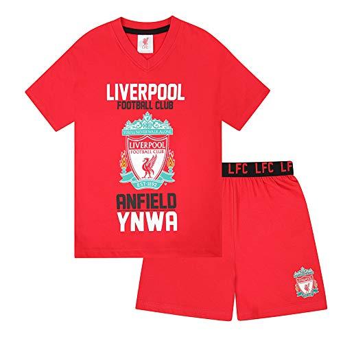Liverpool FC - Pijama corto para niño - Producto oficial - Rojo - 12-13 años
