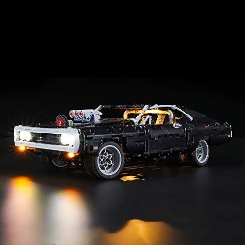 LIGHTAILING Conjunto de Luces (Technic Dodge Charger de Dom) Modelo de Construcción de Bloques - Kit de luz LED Compatible con Lego 42111 (NO Incluido en el Modelo)