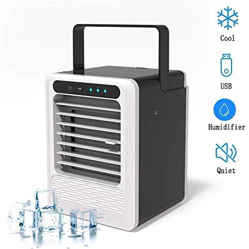 SLRMKK Refroidisseur d'air, Mini refroidisseur USB 3 vitesses refroidisseur d'air de ventilateur de Table Sans Lame Avec poignée Portable climatiseur d'espace Personnel