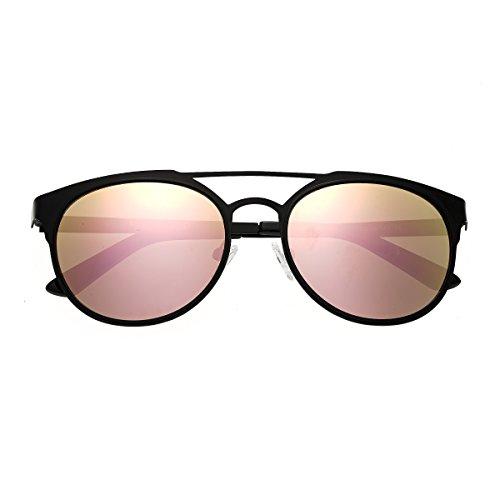 Breed Mensa Titanium Sonnenbrille, Schwarz (Schwarz/Rotgold), Medium