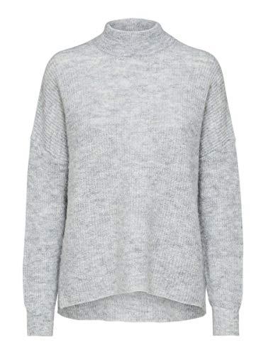 SELECTED FEMME Female Pullover Rundhalsausschnitt Woll XXLLight Grey Melange