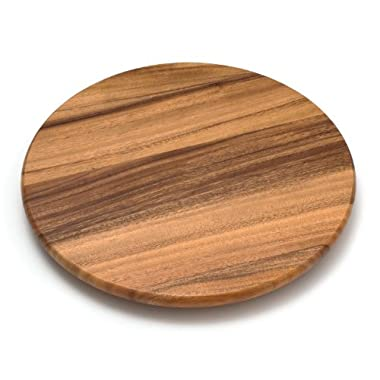 Lipper International 1116 Acacia Wood 16  Lazy Susan Kitchen Turntable