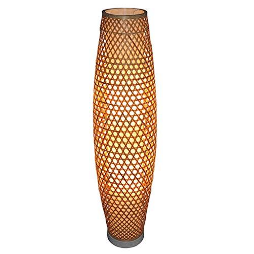 Bamboe staande lamp rotan schaduw vaas vloer licht rustieke Aziatische Japanse Nordic kunst vloerlamp Abajur Luminaria montage lamp decoratie